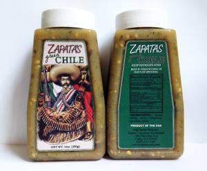 zapatas green chile salsa